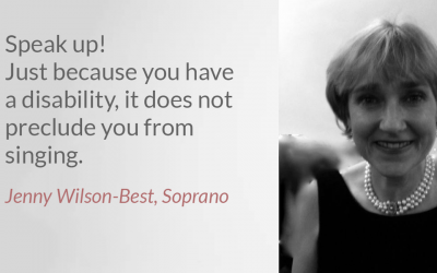 Singing with a disabilitiy: interview with Jenny Wilson-Best